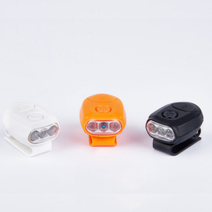 Image 2 - Sanyi 3 LEDs Headlamp Cap Light 90 Degree Rotatable Clip on Hat Light Hands Free Head Lamp Lantern Camping Cycling With Battery