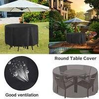 Garten Runde Möbel Abdeckung Wasserdichte Runde Cube Outdoor Rattan Tisch Staub Regen Abdeckungen