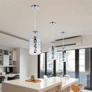 Lámpara de techo LED de hierro de cristal moderna lámpara colgante ...