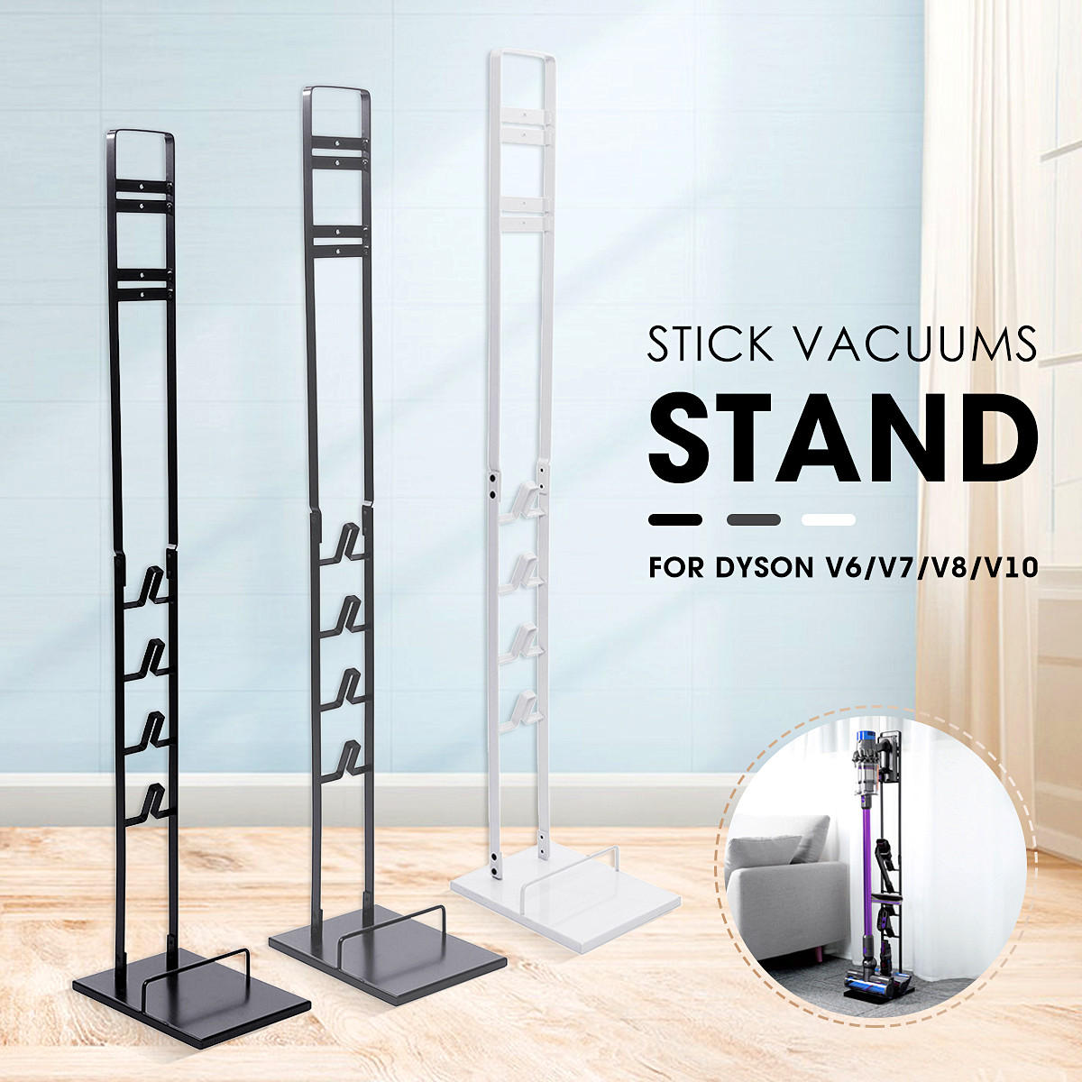 Home Storage Rack Steel Stick Vacuum Cleaner Stand For Dyson V6 V7 V8 V10 Vacuum Cleaner Storage Accessories New Arrival 2019Home Storage Rack Steel Stick Vacuum Cleaner Stand For Dyson V6 V7 V8 V10 Vacuum Cleaner Storage Accessories New Arrival 2019