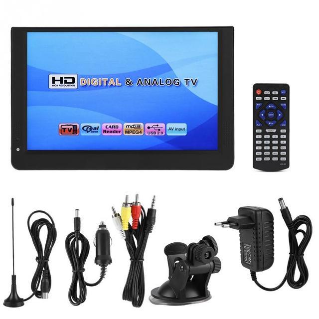 LEADSTAR 1080 p Tragbare Mini 12-zoll 16:9 LED Handheld DVB-T/T2 Digital Tv tv Player für EU stecker