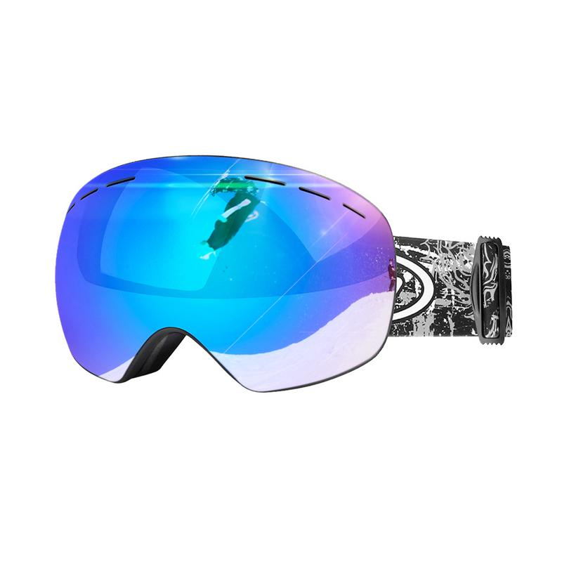 Skiing & Snowboarding Sports & Entertainment Generous Ski Goggles Winter Snow Sports Snowboard Goggles Anti-fog Double-layer Uv Protection Snowmobile Skiing Skating Mask With Case