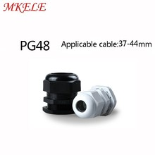 Cable Glands Plastic Nylon Waterproof 5pcs/lots PG48 Black/white Joints IP68 cable connector for 37-44mm cable стоимость