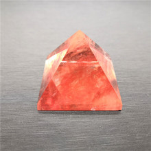 Aura Brings Good Fortune Melting Pyramid High Quality Natural Red Melting Stone Chakra Pyramid Reiki Healing Yoga Meditation