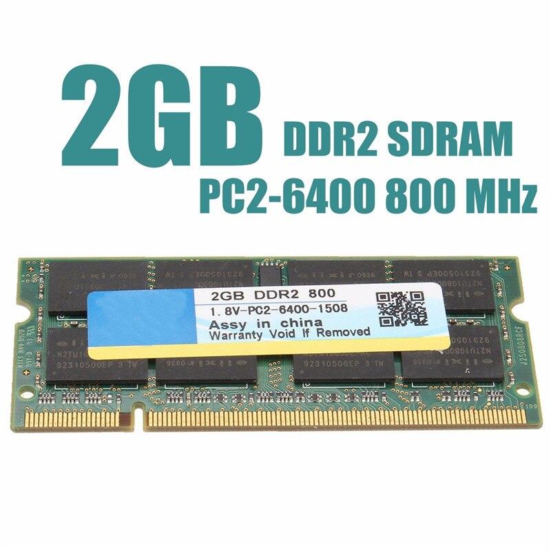 2x2GB 4GB Kit DDR2 667Mhz PC2-5300S CL5 Laptop Sodimm SDRAM Memory Chips RAM Kit