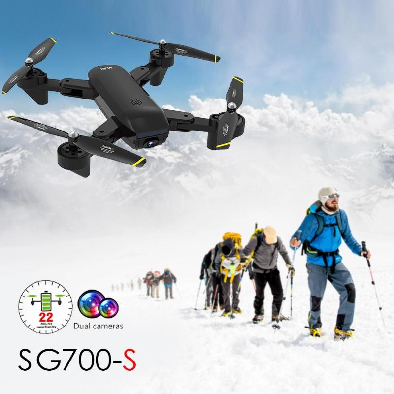 SG700-S RC Helicopter Wide-angle WiFi 720P 1080P 4K Optical Flow Dual Camera Drone Aircraft with LED Lights