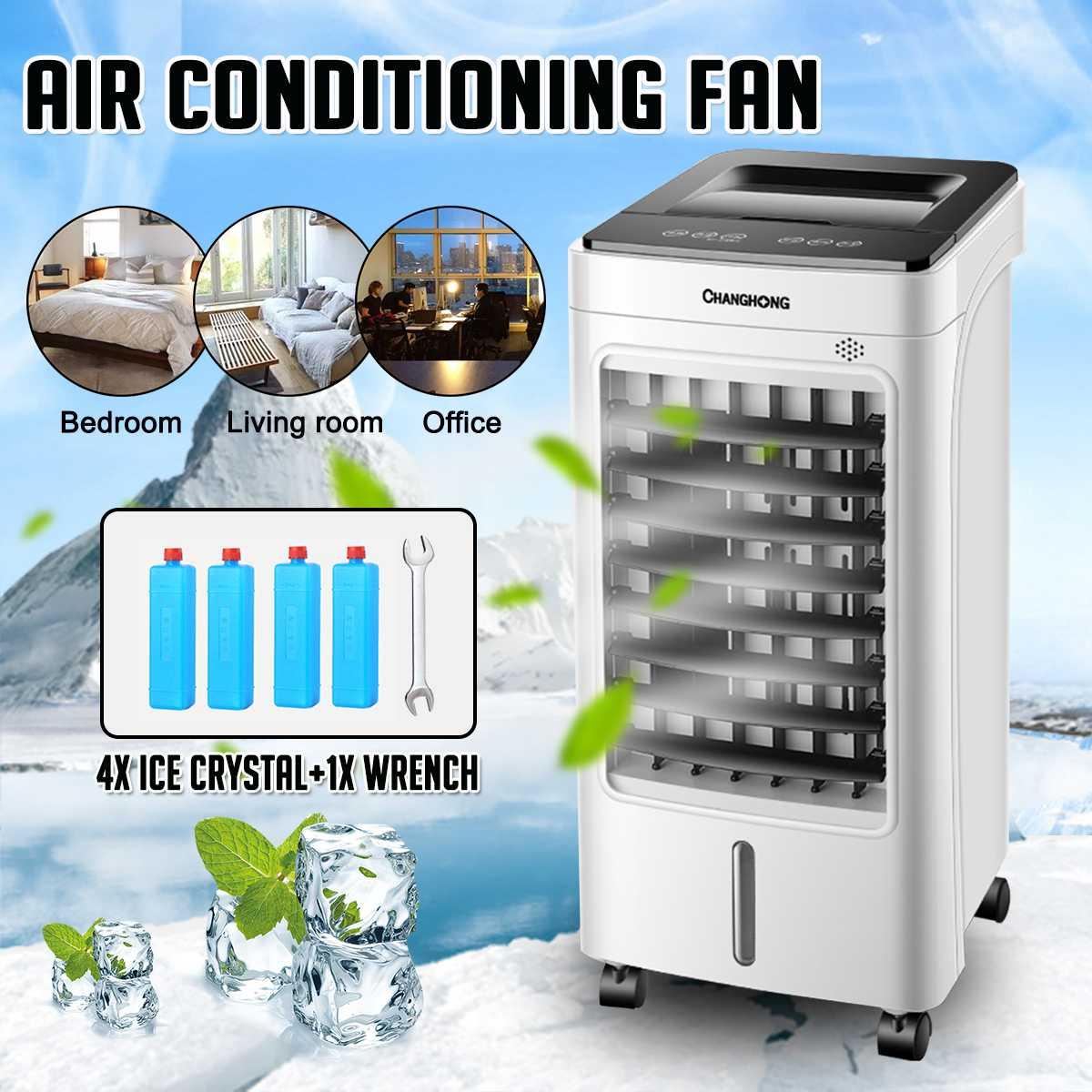 Levou Toque Humidized Ventilador Refrigerador de Ar Condicionado Portátil condicionador de Ar Do Ventilador Refrigerador de Ar Evaporativo Do Ar Cronometrado Exaustor