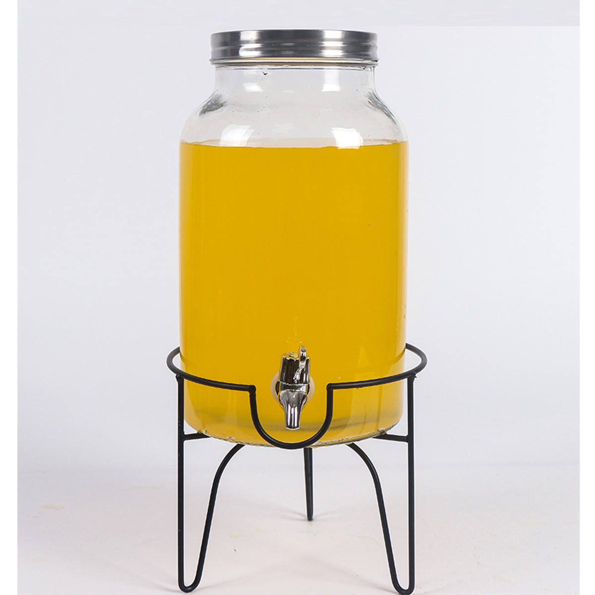 5.5L Drink Beverage Dispenser and Stand Beverage Home Party Water Juice Beer cans Detox Glass Jar With Water Faucet Kitchen Tool