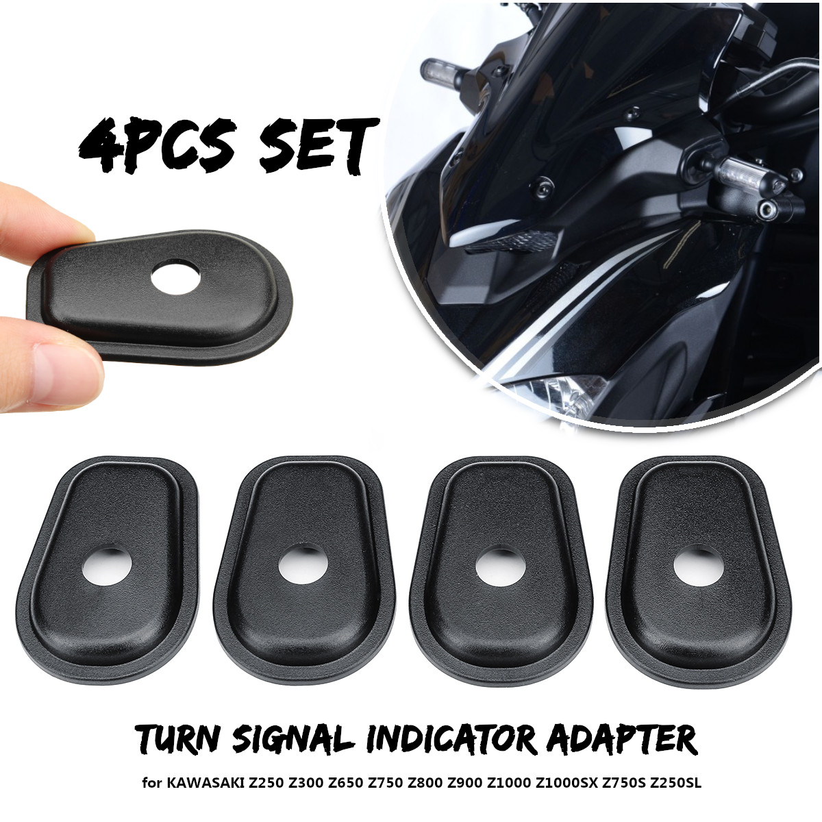 4pcs Motorcycle Turn Signal Indicator Adapter Spacers For KAWASAKI Z250 Z300 Z750 Z800 Z1000 Z1000SX Z750S Z250SL