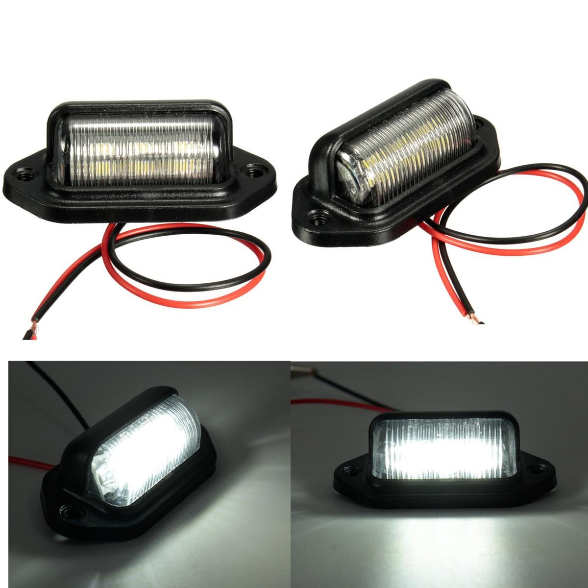 Номерной знак светильник номерного знака светильник лампы для лодки мотоцикла автомобильной самолета RV грузовик с прицепом, 12V 6 светодиодо...