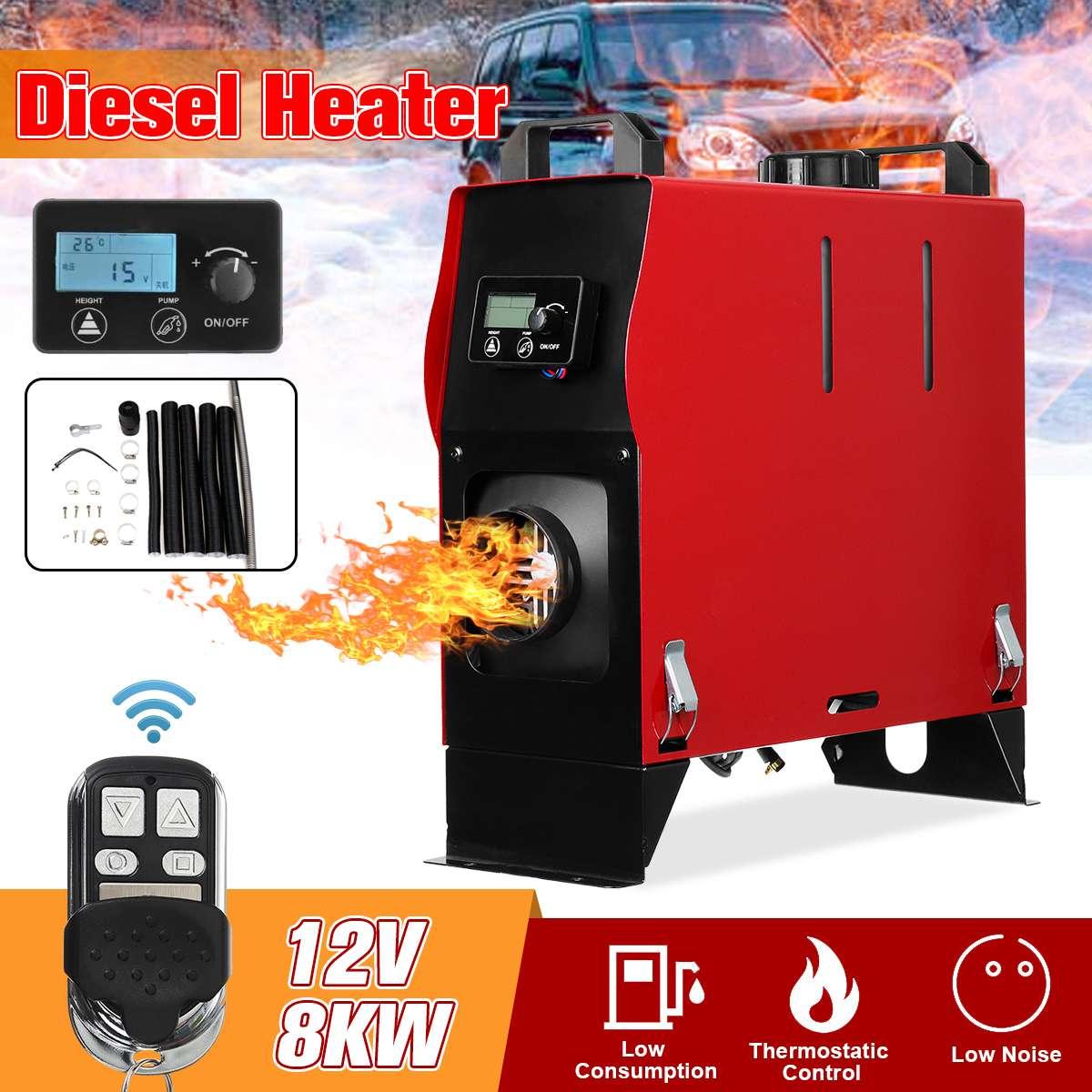 8KW 12 V Integração 1/4 Buracos de Ar Diesel aquecedor de estacionamento ar Aquecedor Do Carro Com Controle Remoto do Interruptor Da Tela LCD de Poupança espaço