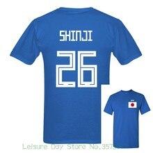 2018 Mais Novo Japão Shinji Número 26 Rússia Jogo da Copa Do Mundo Fãs 10  Cores T Shirt Dos Homens Jogador de Futebol de Manga C.. 2494568818d58