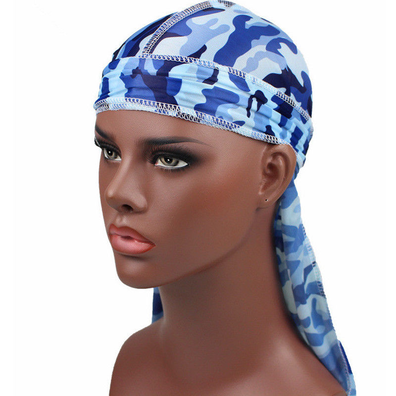 Shop For Cheap Silk Durag Satin Mens Durags Wig Bandanna Pirate Hat Bandeau Cheveux Women Head Wrap Elastic Headband Last Style Men's Accessories