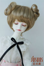 JD301  1/6 Synthetic mohair BJD doll wig 6-7inch YOSD double circle concentric tail