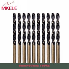 High Quality 10pcs/box 6.0mm Straight Shank HSS Speed Twist Drill Bits Metal Woodworking Power Tools Ferramentas Herramientas