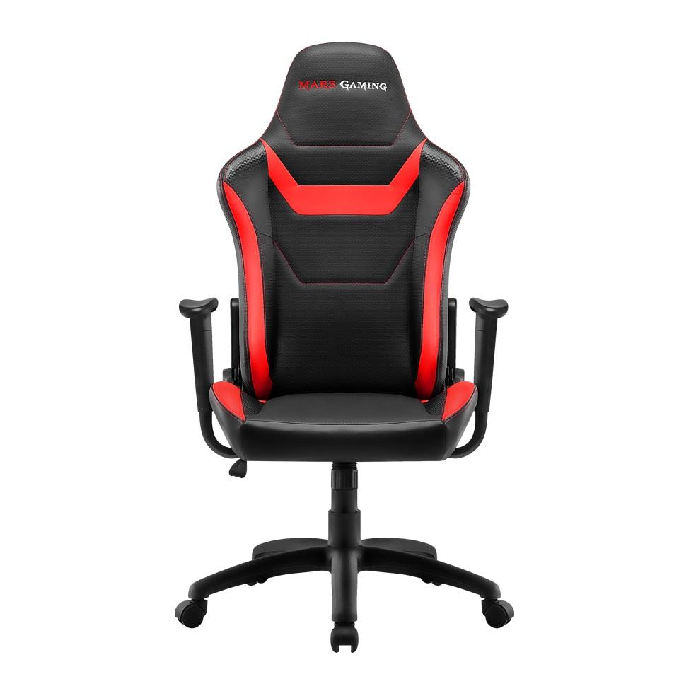 Chair Gamer Mars Gaming Mgc218br Color Black Details In Red AND Carbono Recliner Double Layer Padding Leather Sinteti