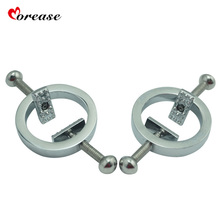 Morease 1 pair Alloy Nipple Clips BDSM Female Harness Nipple Clamps Breast Bondage Couples Adult Game