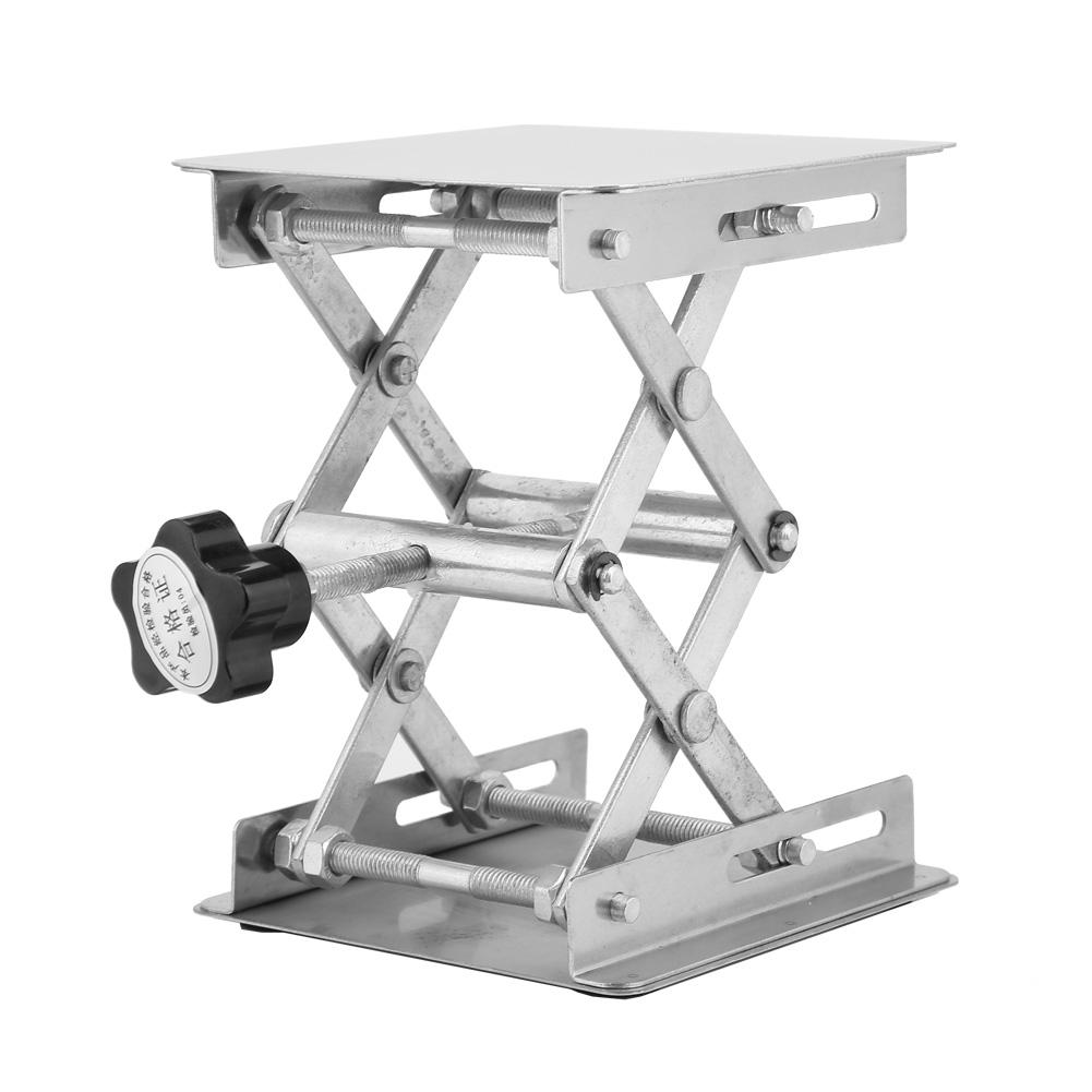 Stainless Steel Lifting Platform Laboratory Lifting Stand Scissor Rack 100 X 100mm