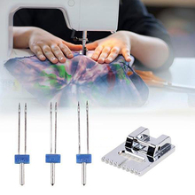 3 PCS/Set Stainless Steel Multi-functional Household Sewing Machine Double Long Needles Accessories