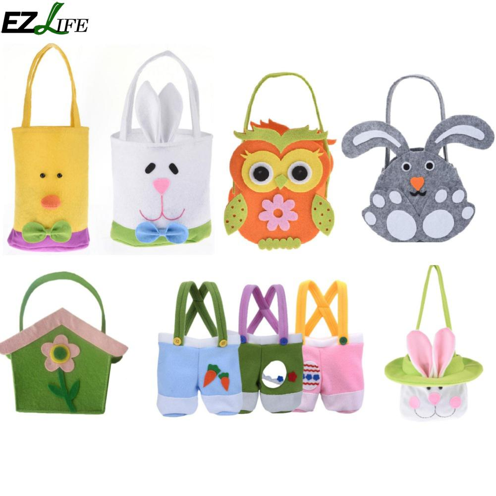 Functional Bags Luggage & Bags Realistic Gift Rabbit Storage Decoration Egg Basket Toy Candy Kids Handbag Party Supplies Easter Bunny Home Decor Cute Flower