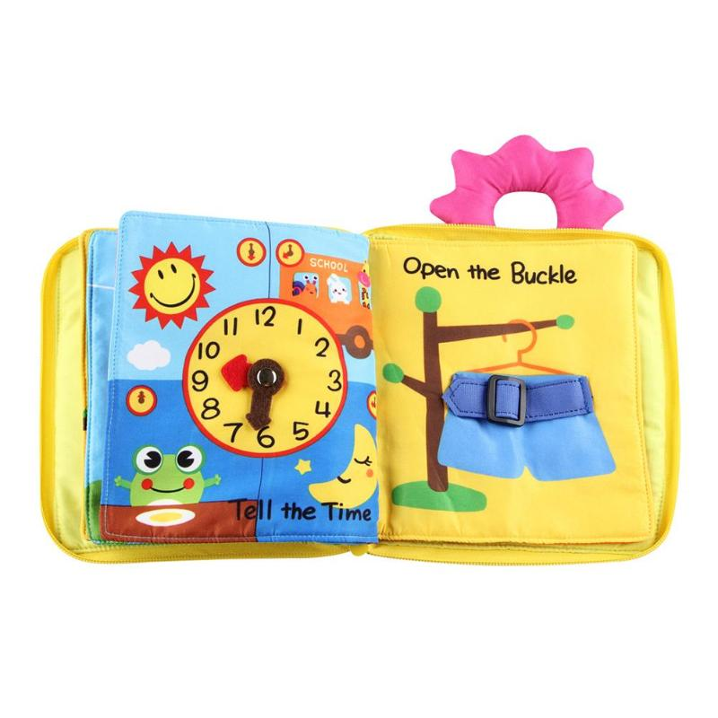 Educational Baby Toys Infant Kids Early Development Cloth Book Learning Educational Baby Toys Unfolding Activity Books