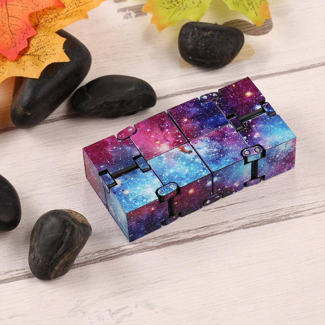 Stress Relief Cube Infinity Cube Mini Fidget Toy Creative Infinity Stress Colorful Anti Toy Anxiety Funny Fashion Best Gift