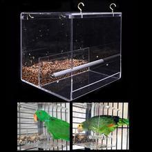 Новый акриловый автоматический попугай кормушка для птиц без беспорядка устройство для кормления семян контейнер для еды для маленьких и средних птиц