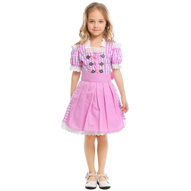 Oktoberfest Beer Girl Costume German Beer Girl Costume Cosplay Dress Halloween Carnival Performance Party Clothing For Kids in Girls Costumes from Novelty Special Use