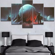 5 stuk Canvas Art Extraterrestrial Alien Ei Astronauten Cuadros Schilderijen op Canvas Wall Art voor Home Decorations Muur Decor(China)