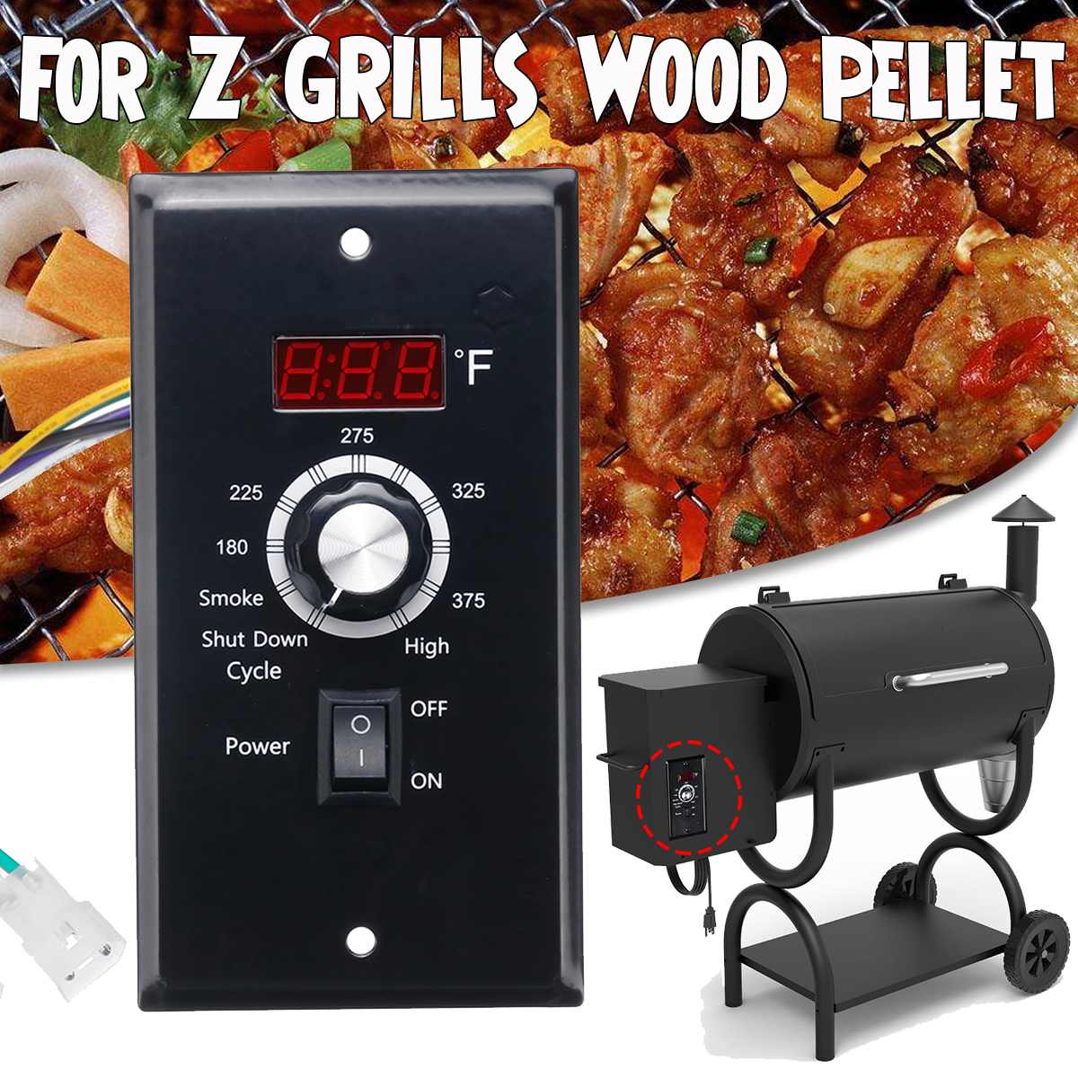 Replacement 120V Digital Temperature Controller Thermostat Board For Z GRILL Wood Pellet BBQ Smoker Grill Integrated CircuitsReplacement 120V Digital Temperature Controller Thermostat Board For Z GRILL Wood Pellet BBQ Smoker Grill Integrated Circuits