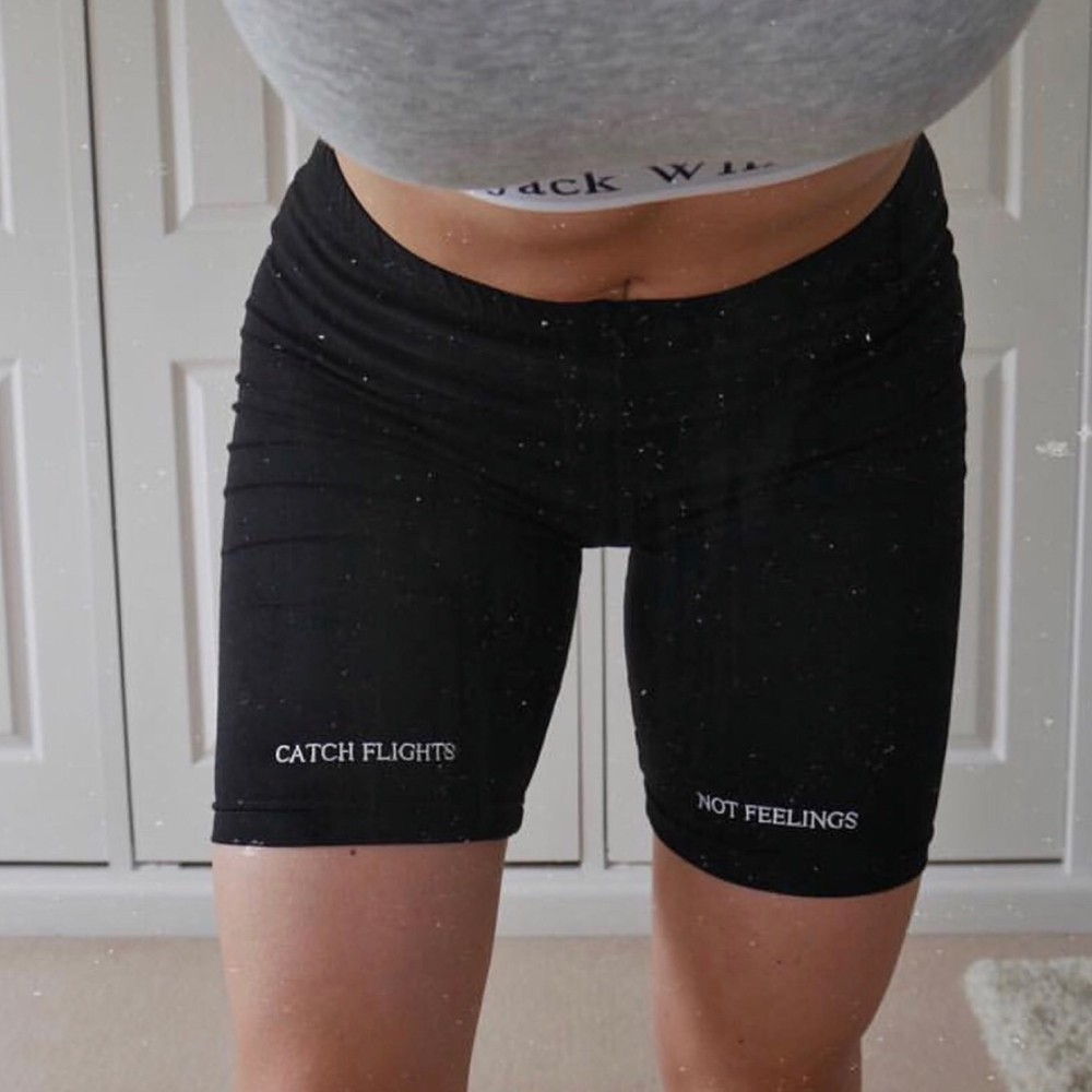 Jocoo Jolee Fitness Active Wear Athleisure Cycling Shorts Women High Waist Letter Print Biker Shorts Femme 2020 Summer Fashion