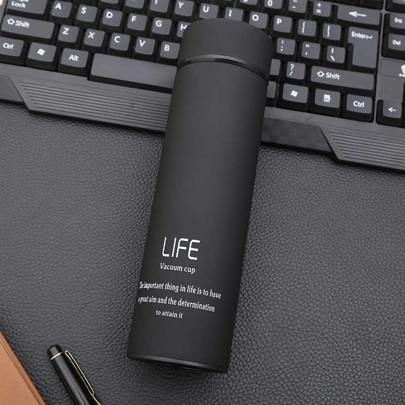 500ml garrafa térmica de aço inoxidável garrafas de vácuo copo thermo café chá caneca de viagem com filtro garrafa térmica garrafa térmica garrafa de água thermoses