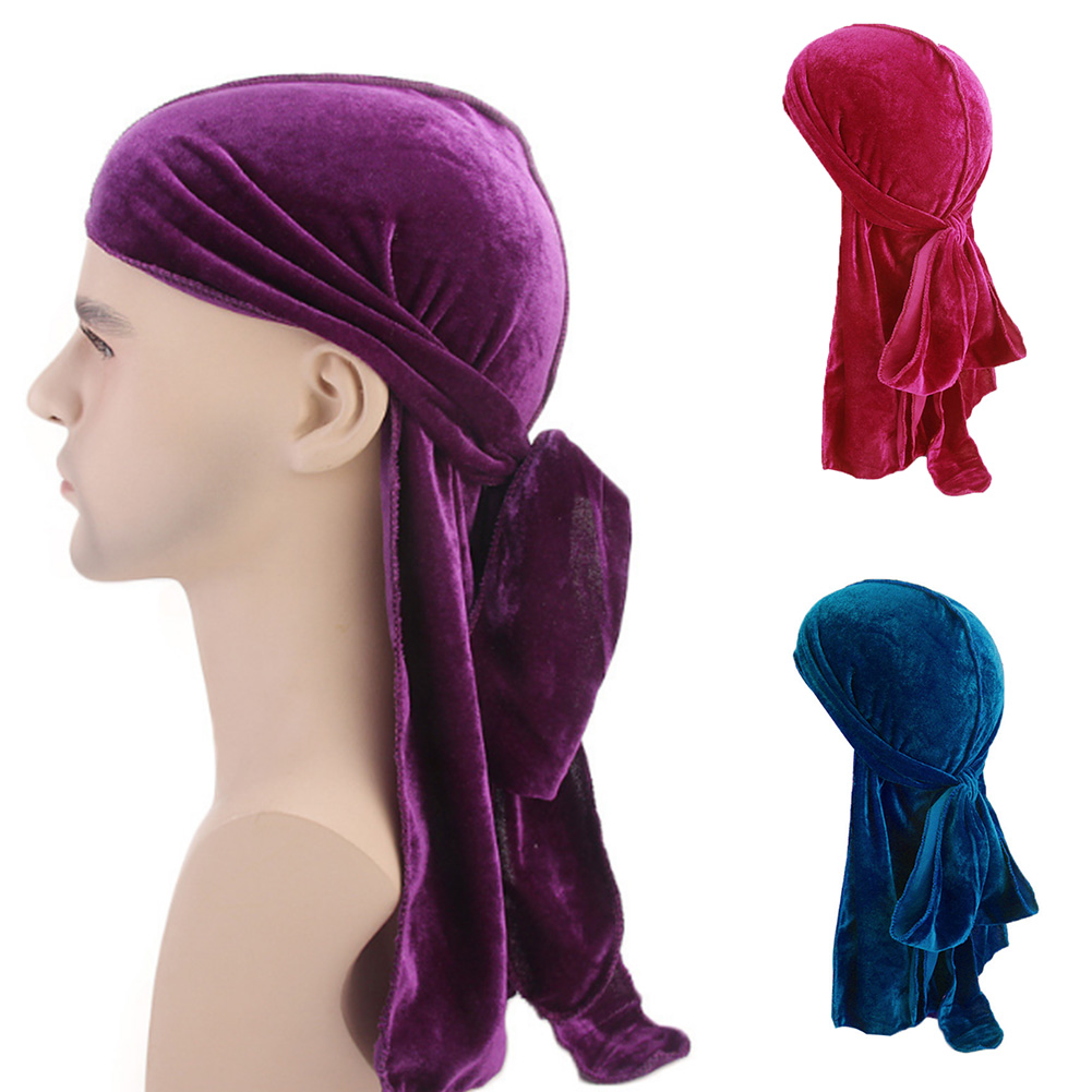 Navy Blue Tie Down Durag Doorag Head Scarf Hip Hop Tails FREE SHIPPING FROM USA!