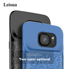 Leioua 4700mah for Galaxy S7 Slim Phone Battery Charger Soft Silicone Case 5000mah For Samsung S7 Edge Power Bank External Case(China)