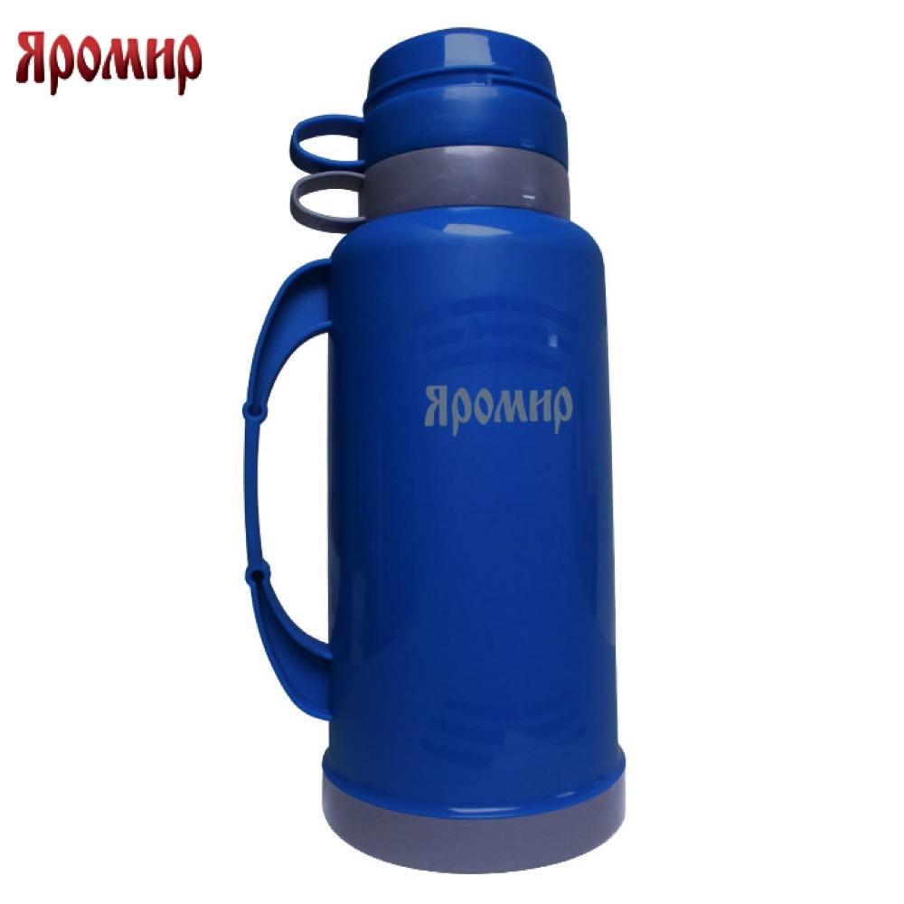 Vacuum Flasks & Thermoses Yaromir YAR-2021C Blue/Grey thermomug thermos for tea Cup stainless steel water yaromir yar 2405m hot cup 400ml vacuum flask thermose travel sports climb thermal pot insulated vacuum bottle stainless steel