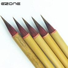 EZONE 1 шт., кисть для рисования чернилами, Бамбуковая, ручная, шерстяная, крючок для волос, кисть для китайской каллиграфии, практичная, Студенческая, поставка