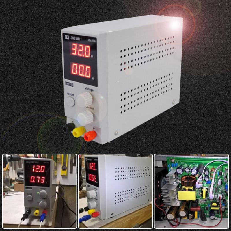 110V 220V 30V Adjustable Digital DC Power Supply Switching Power Supply Voltage Regulator EU Plug LW