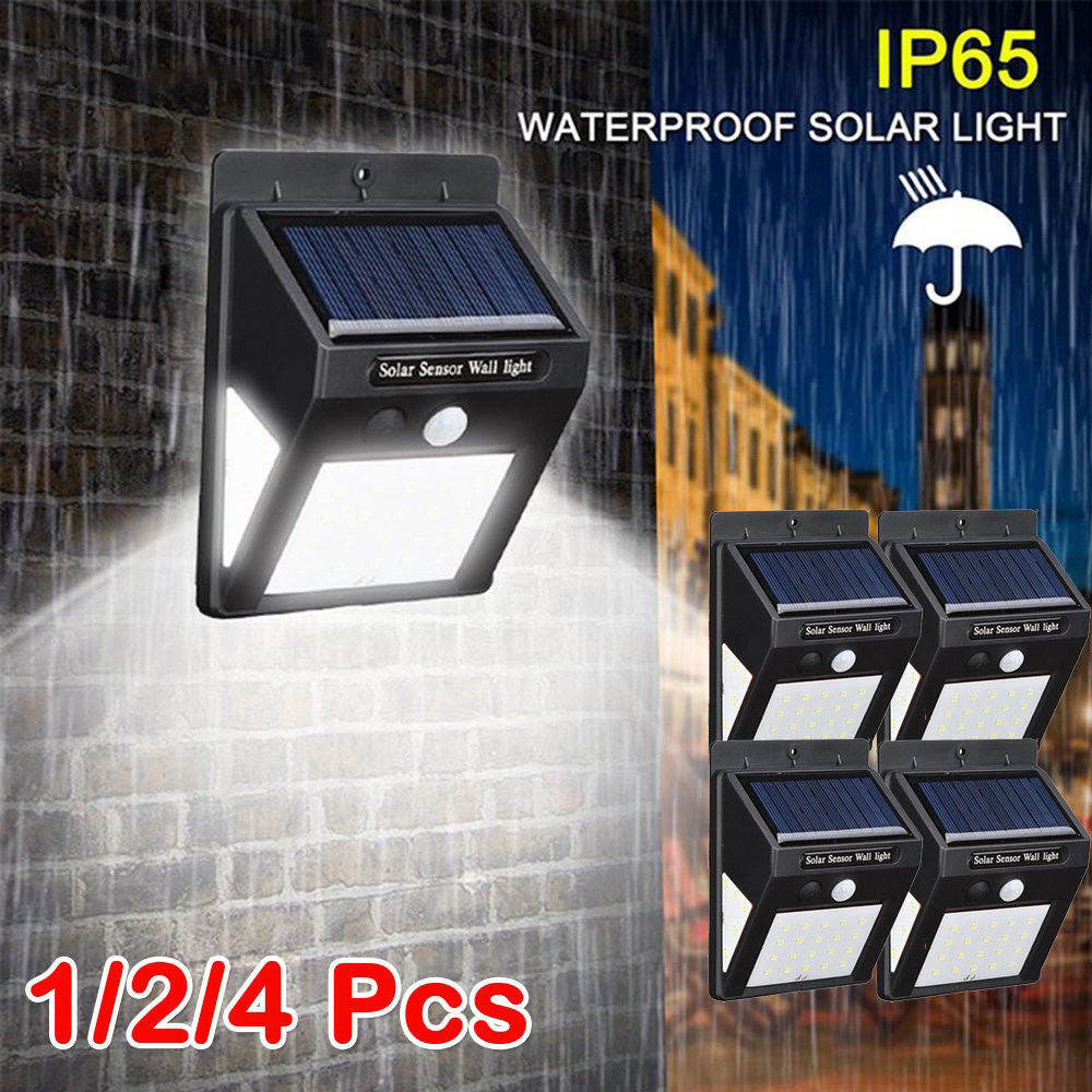 <font><b>30</b></font> <font><b>Leds</b></font> <font><b>Solar</b></font> Light 3 Side Illumination 1/2/4pcs PIR Motion Sensor Wireless <font><b>Solar</b></font> Light Waterproof Outdoor Garden Wall <font><b>LED</b></font> Light image