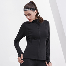 Willarde женский спорт, бег, Йога куртки осень зима наушники с «молнией» отверстие Фитнес Спортивная одежда топы