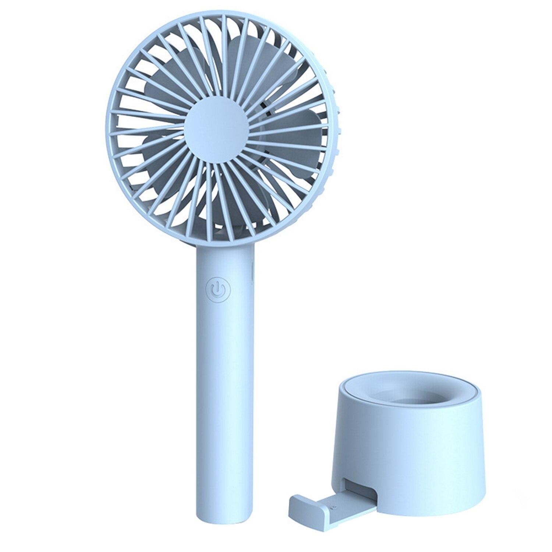 Ev Aletleri'ten Fanlar'de Taşınabilir Usb şarj edilebilir Mini Fan için uygun açık el sessiz küçük Fan title=