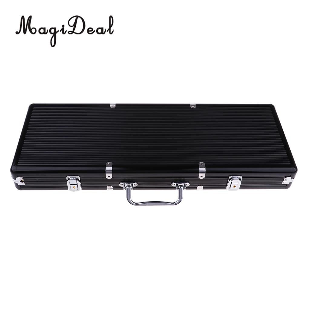 Portable 500pc Aluminum Case Casino Poker Games Chips Counters Box Suitcase with Key