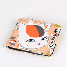 1 Pc Cute Anime Natsume Yuujinchou Purse Short Wallet Student Coin Purse Card Holder Cosplay Figure Toy
