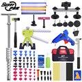Super-PDR Strumenti di Kit Per Auto Paintless Dent Repair Tool Grandine Dent Kit di Rimozione Set di Utensili A Mano Auto Dent Estrattori tazza di aspirazione GlueGun