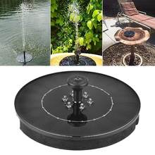 Solar Fountain With 6 LEDs Light 9V 2W Outdoor Solar Garden Water Fountain Pump For Landscape Pool Pond Decoration(China)