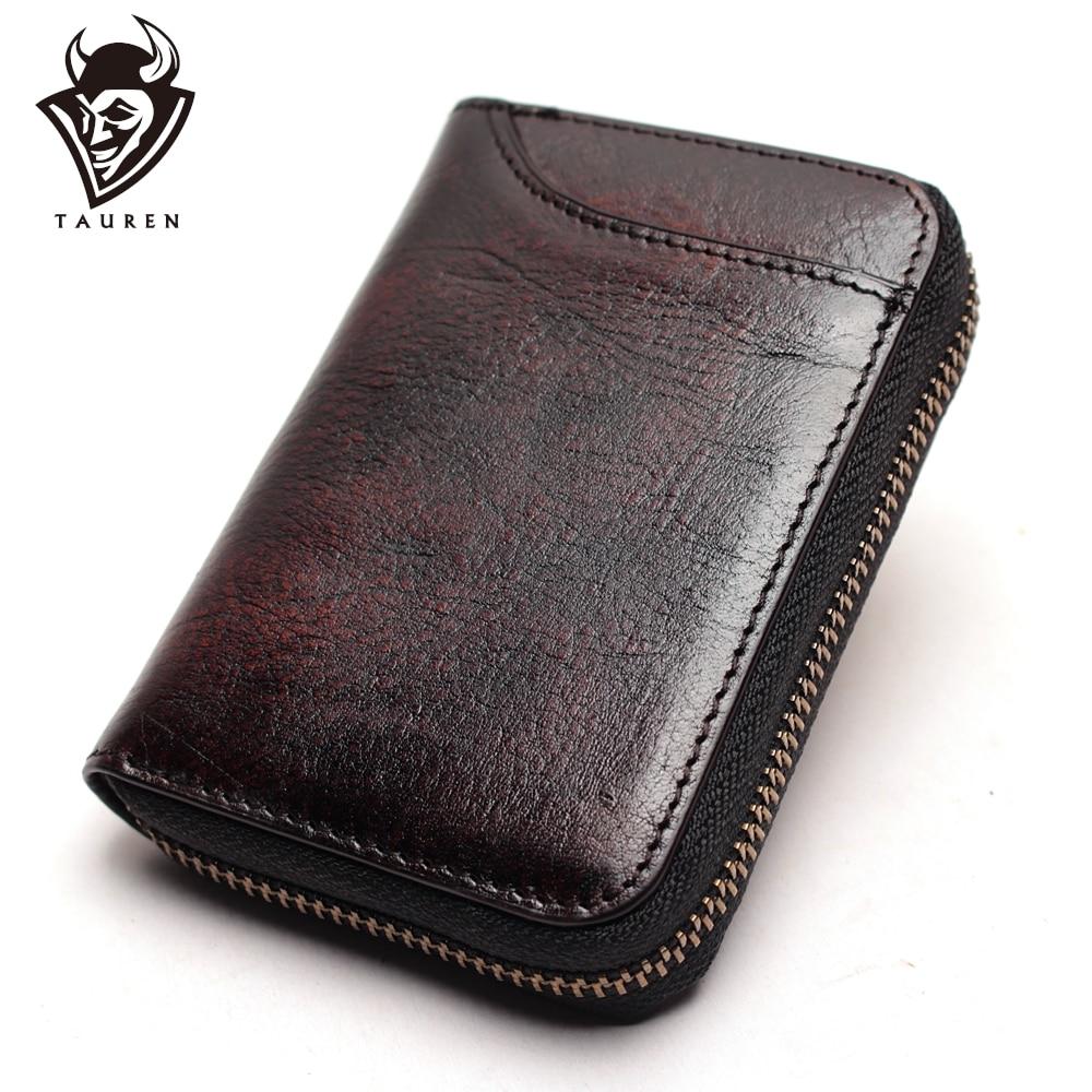 Camada de Couro Cartão de Crédito Cartão de Visita Multi-cartão de Couro Primeira Acordeão Retro Carteira Bolsa