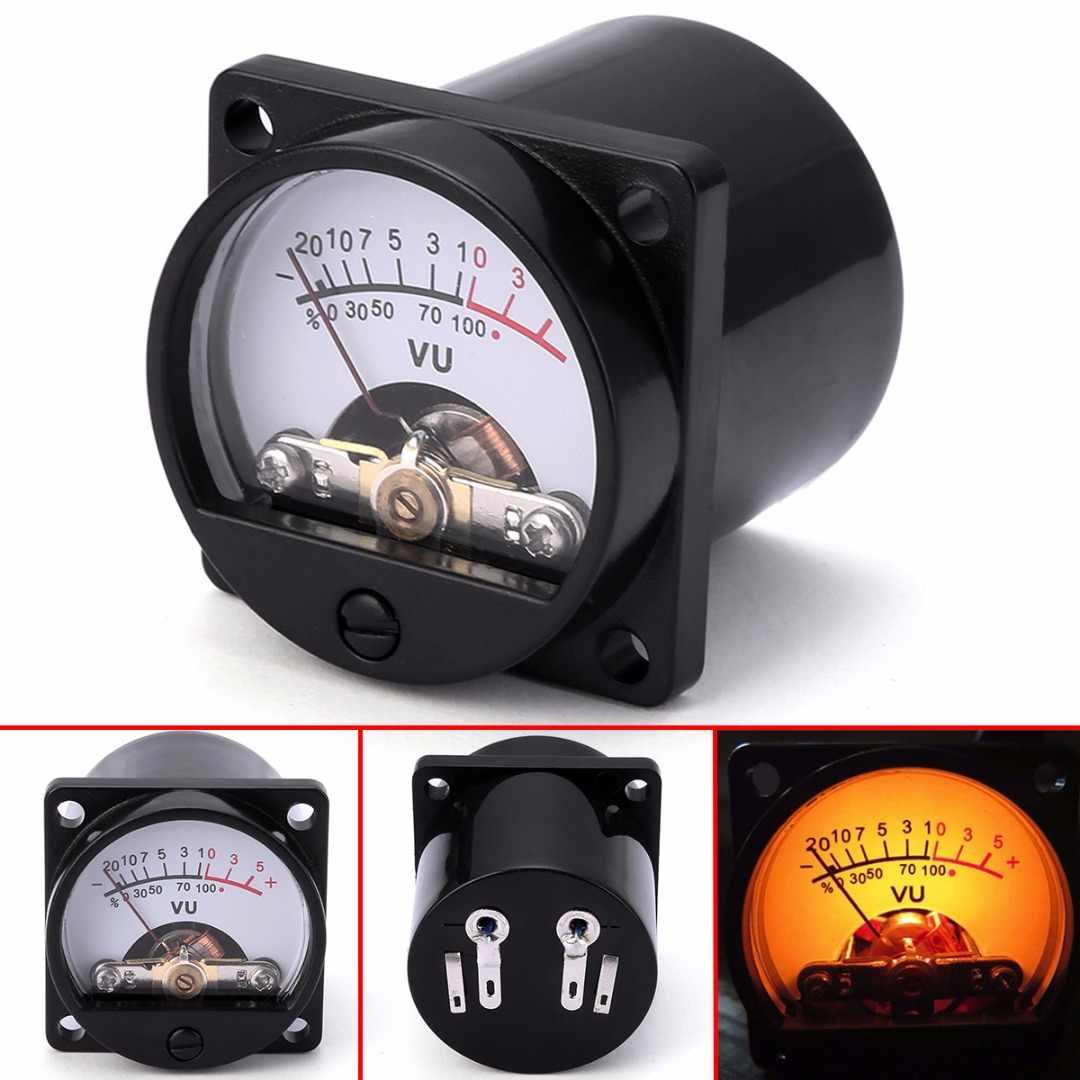 Nouveau 6-12V panneau VU mètre ampoule chaud rétro-éclairage enregistrement niveau Audio ampèremètre 500UA 35x35mm
