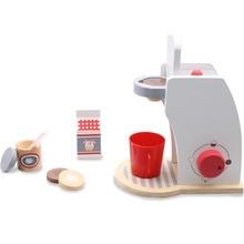 17 см деревянные ролевые игры кухонные игрушки наборы моделирования модель кофемашины сделать кофе Обучающие деревянные игрушки подарки для детей