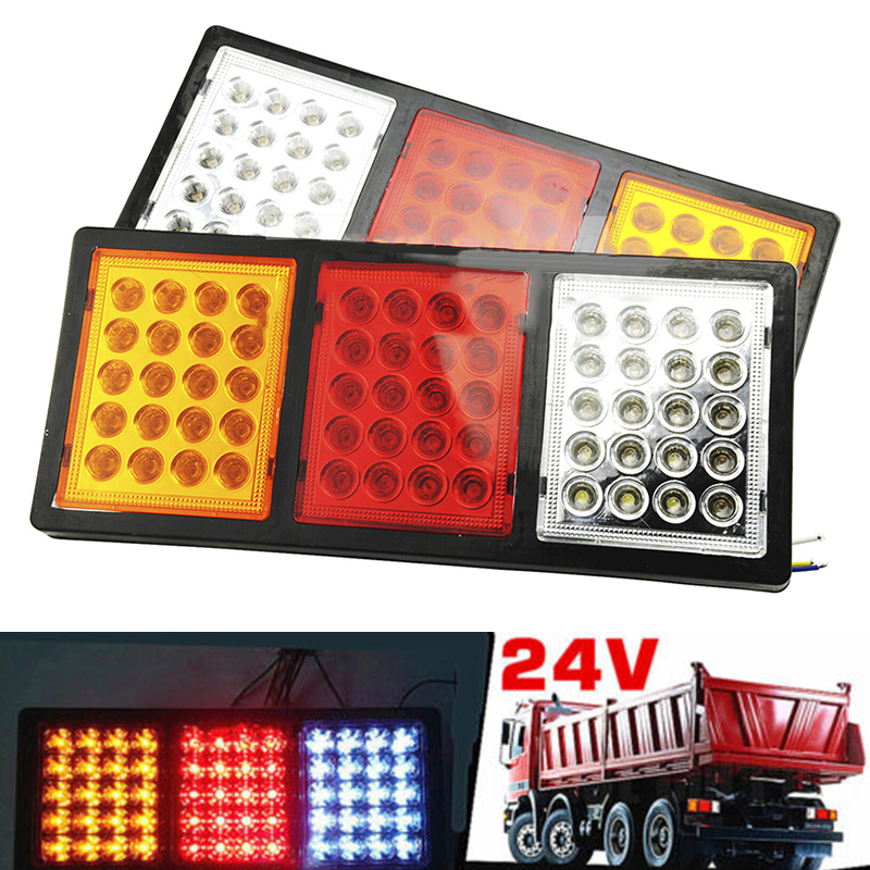 2pcs Car 60 LED Stop Taillight Indicator Lamp For Trailer Truck Boat Caravan High Quality