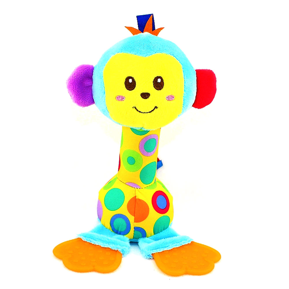 Fashion Children Plush Toys Colorful Animal Shape Lovely Appease Dolls Rattles Grasping Toy For 0 3 Years Baby Kids Gift Yjs Dro
