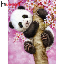 Huacan Diamond Embroidery Animals Hobby Painting Panda Rhinestones Pictures Mosaic Full Drill Square Tools